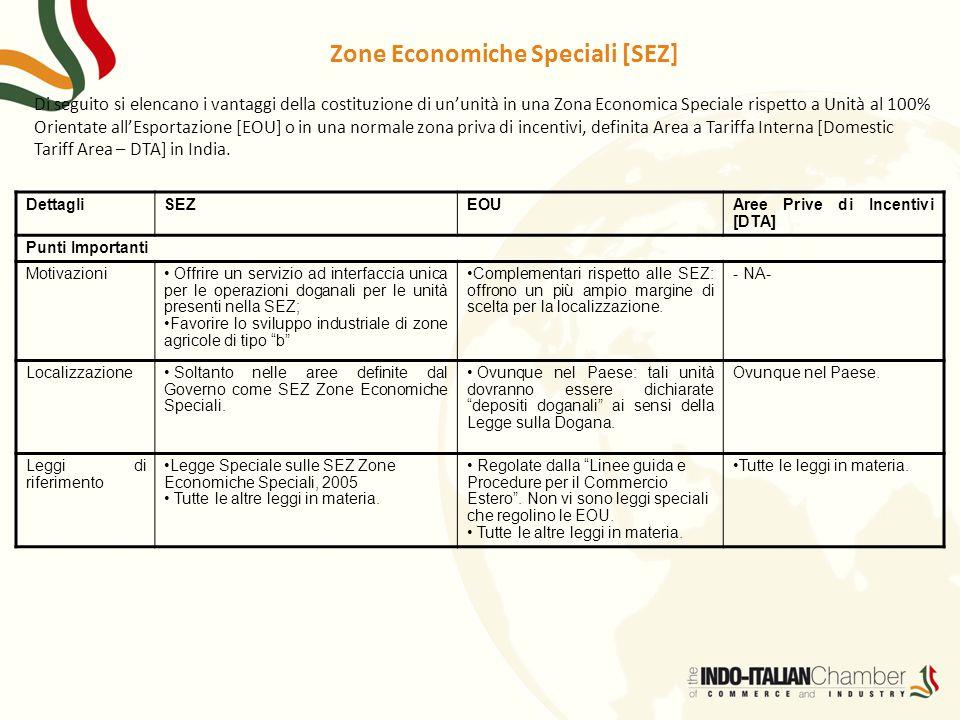 Zone Economiche Speciali [SEZ]
